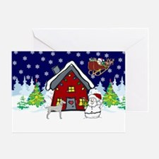 Cute Weimaraner Christmas Greeting Card