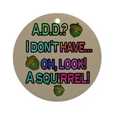 Look, A Squirrel Ornament (Round)