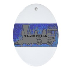 Train Freak Oval Ornament