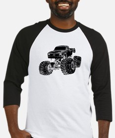 Monster Pickup Truck Baseball Jersey