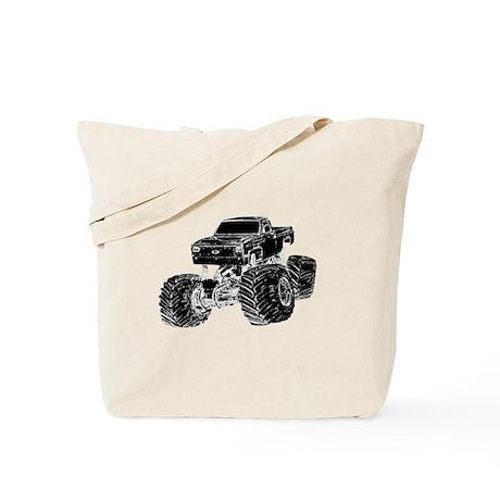 Monster Pickup Truck Tote Bag