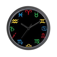 Signs Of The Zodiac Wall Clock