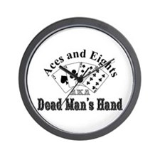 Aces and Eights Wall Clock