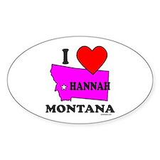 Hannah, Montana Oval Decal