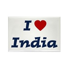 I HEART INDIA Rectangle Magnet