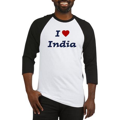 I HEART INDIA Baseball Jersey