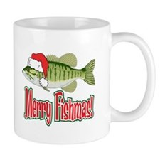 Merry Fishmas Small Mug