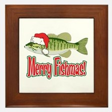 Merry Fishmas Framed Tile
