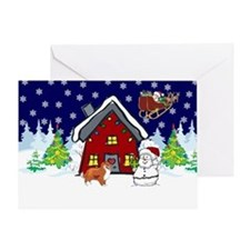 Cute Sheltie Christmas Greeting Card