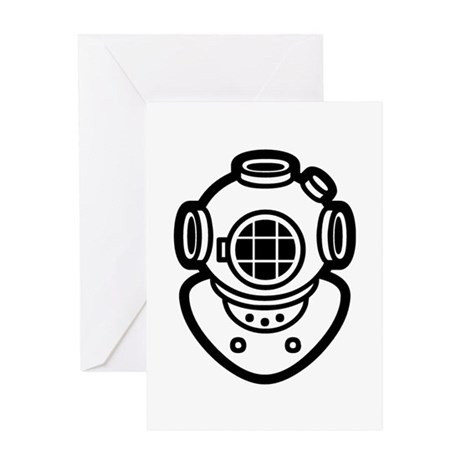 Diving Helmet Greeting Card