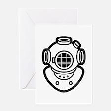 Diving Helmet Greeting Card