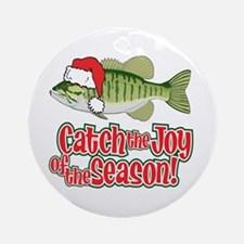 Catch The Joy Fishing Ornament (Round)