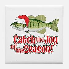 Catch The Joy Fishing Tile Coaster