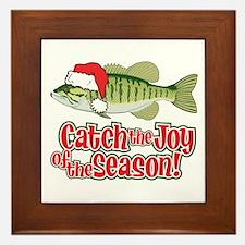 Catch The Joy Fishing Framed Tile