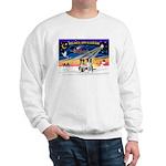 XmasSunrise/2 Border Collies Sweatshirt