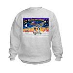 XmasSunrise/2 Border Collies Kids Sweatshirt