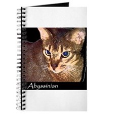 Cute Abyssinian cat Journal
