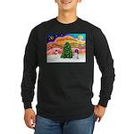 XmasMusic 2MC/Newfie Long Sleeve Dark T-Shirt