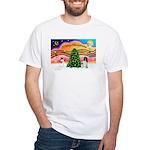 XmasMusic 2MC/Newfie White T-Shirt
