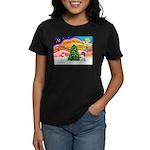 XmasMusic 2MC/Newfie Women's Dark T-Shirt