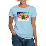 XmasMusic 2MC/Newfie Women's Light T-Shirt