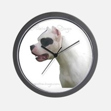 Cute Argentine dogo Wall Clock