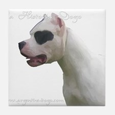 Cute Argentine dogo Tile Coaster