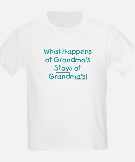 What Happens at Grandma's ... Kids T-Shirt