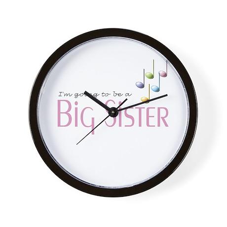 Music Notes Big Sister Wall Clock