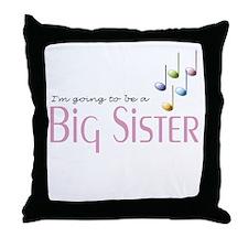 Music Notes Big Sister Throw Pillow