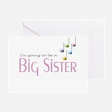 Music Notes Big Sister Greeting Card