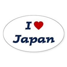 I HEART JAPAN Oval Decal