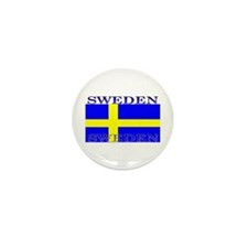 Sweden Swedish Flag Mini Button (10 pack)