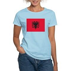 Albania Flag Women's Pink T-Shirt