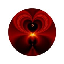 """Heart Fractal 3.5"""" Button"""