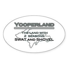 Yooperland - 2 Seasons Oval Decal