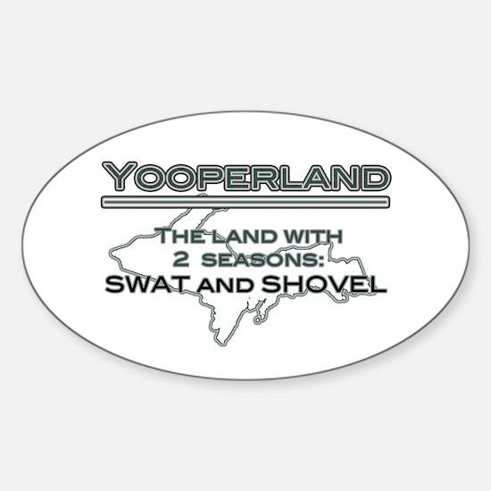 Yooperland - 2 Seasons Oval Decal