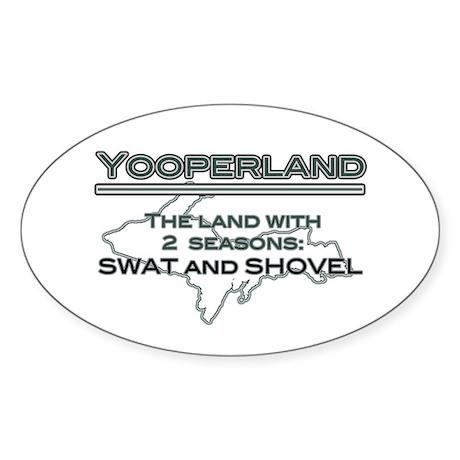 Yooperland - 2 Seasons Oval Sticker