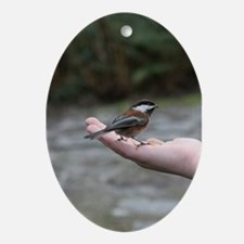 Chestnut-backed Chickadee Oval Ornament