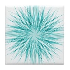 Blue Starburst Tile Coaster