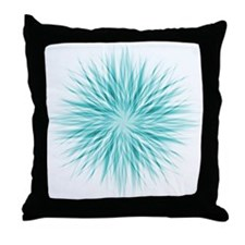Blue Starburst Throw Pillow