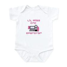 Funny girls CNC Operator Infant Onesie Bodysuit