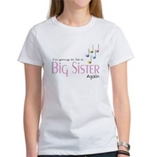 Music Notes Big Sister Again Tee