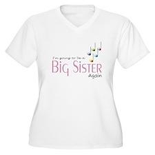 Music Notes Big Sister Again T-Shirt