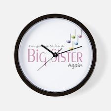 Music Notes Big Sister Again Wall Clock