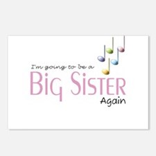 Music Notes Big Sister Again Postcards (Package of