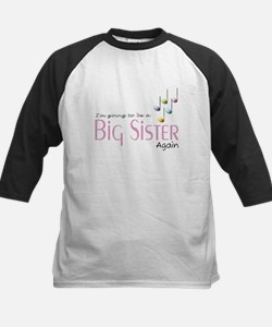 Music Notes Big Sister Again Kids Baseball Jersey