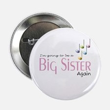 """Music Notes Big Sister Again 2.25"""" Button"""