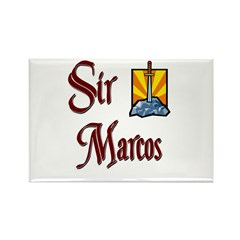 Sir Marcos Rectangle Magnet