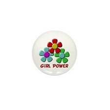 Girl Power Mini Button (10 pack)